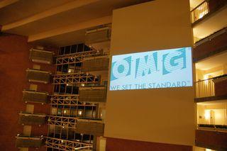 Large OMG sign